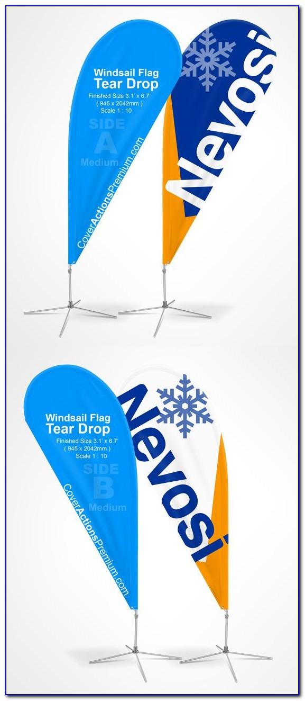 Teardrop Flag Template Psd