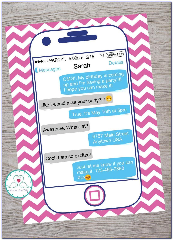 Teenage Girl Birthday Party Invitation Template
