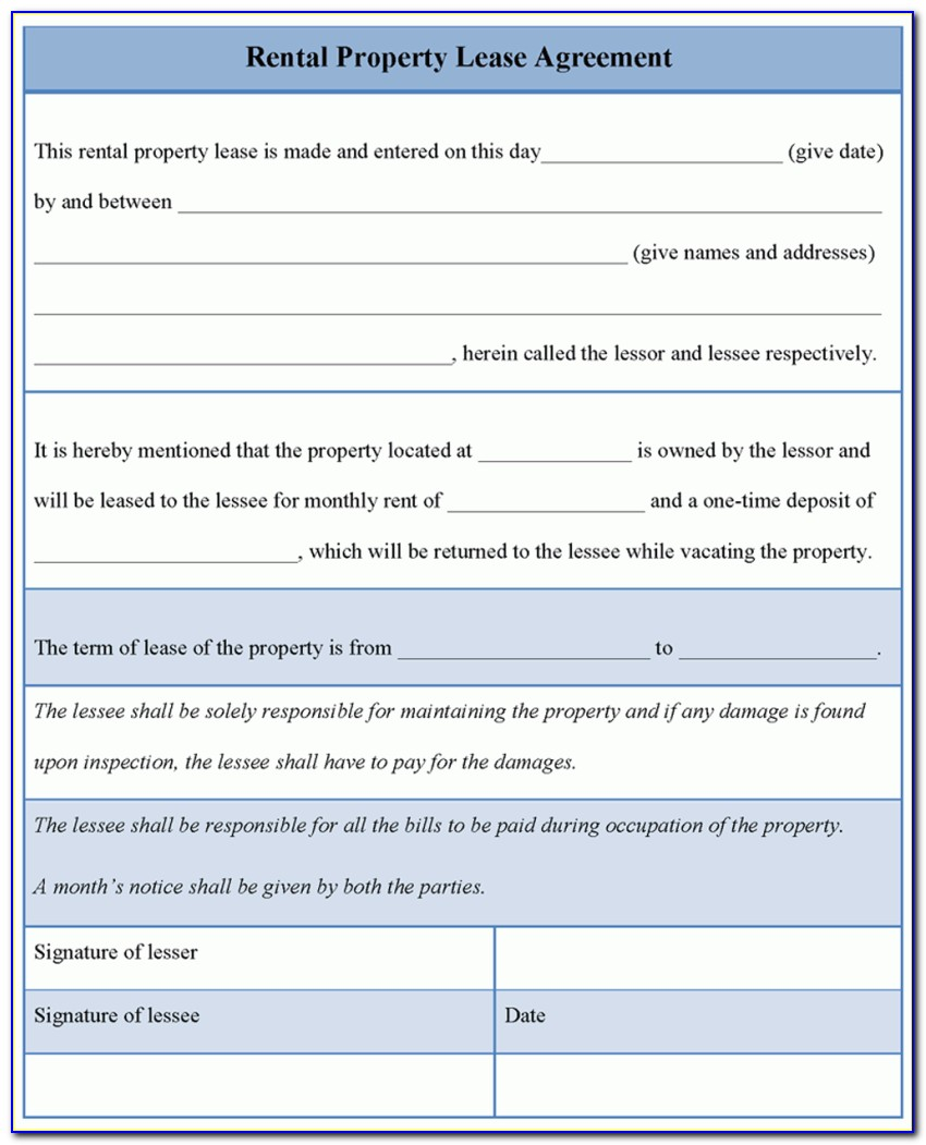 Template For Breaking A Rental Lease