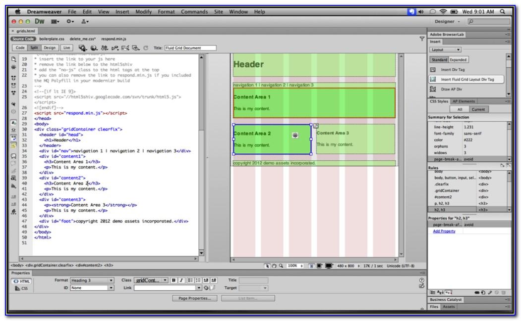 Template Web Dreamweaver Cs6