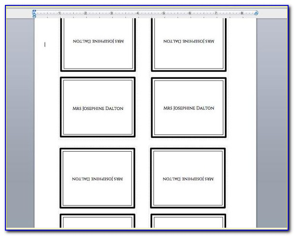 Tent Place Card Template Free Download