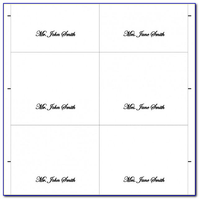 Printable Place Cards Template Thebridgesummit.co Regarding Tent & Tent Place Card Template 6 Per Sheet