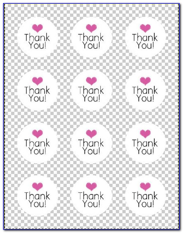 Thank You Labels Template Free