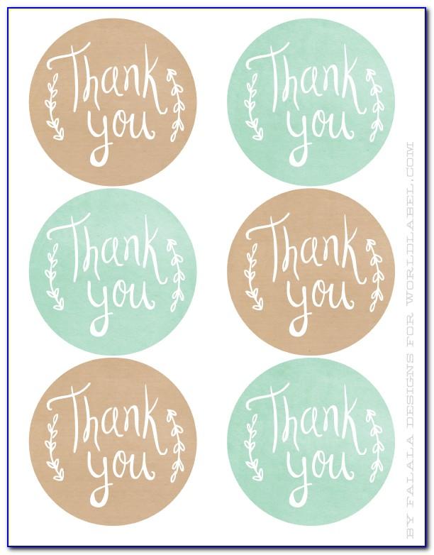 Thank You Sticker Template Wedding