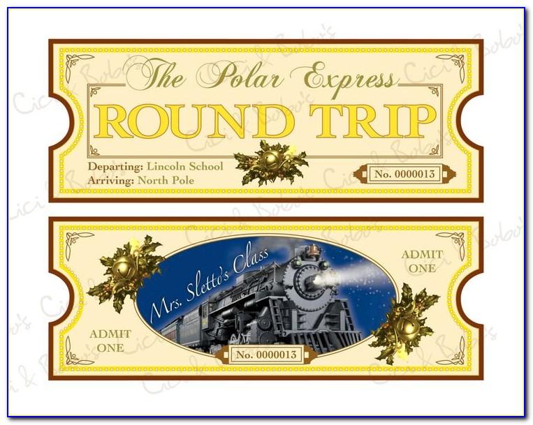 The Polar Express Ticket Template