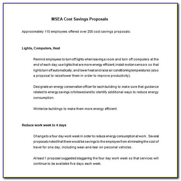 T&m Cost Proposal Template