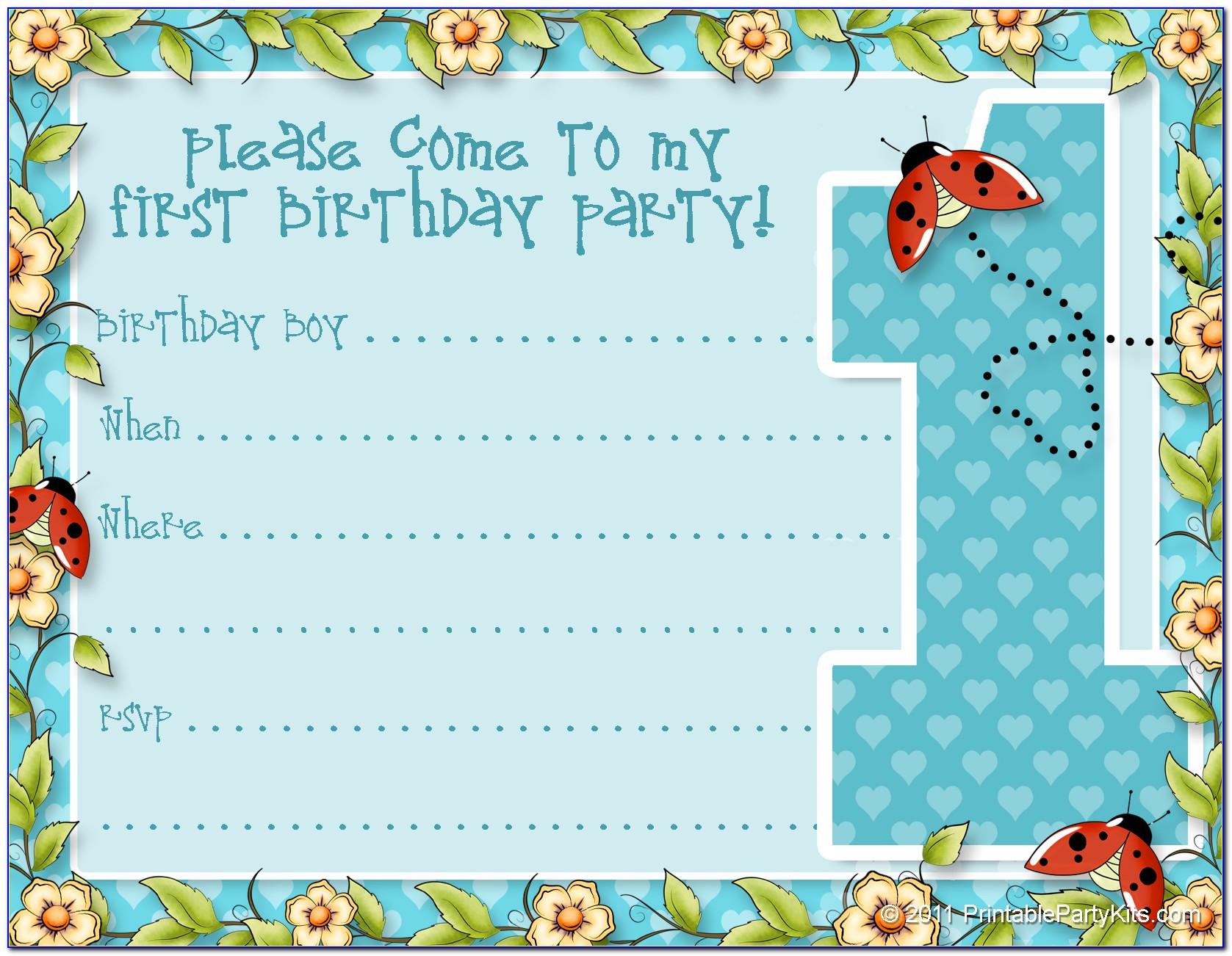 Toddler Birthday Invitation Maker