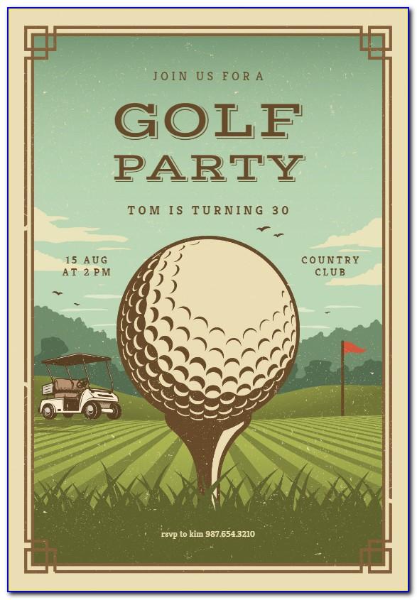 Top Golf Invitation Template