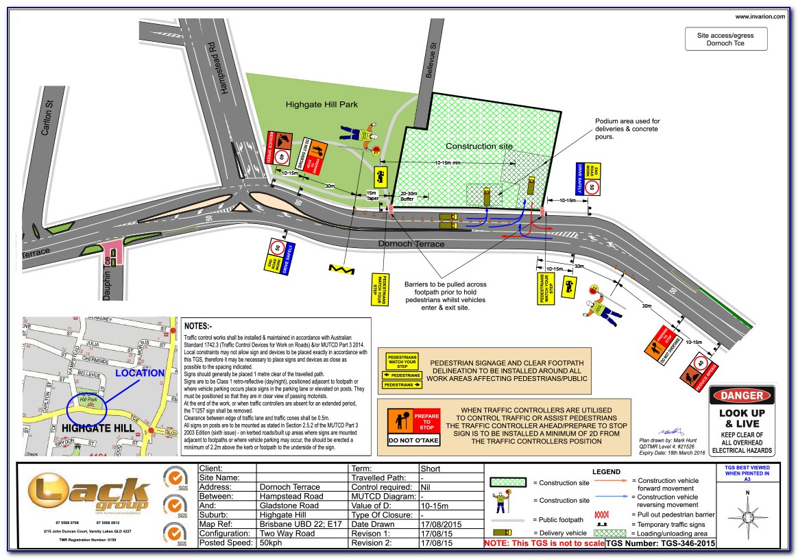 Traffic Control Plan Template Texas