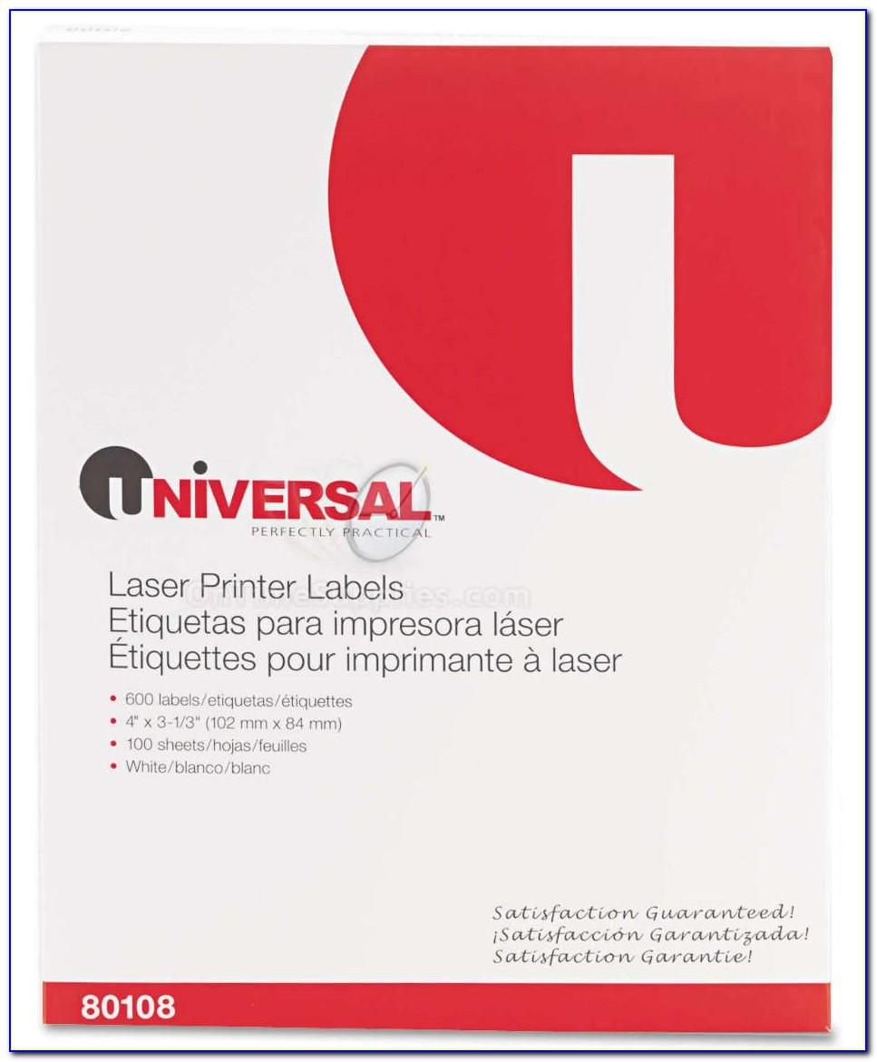 Universal Laser Printer Labels Template 80102
