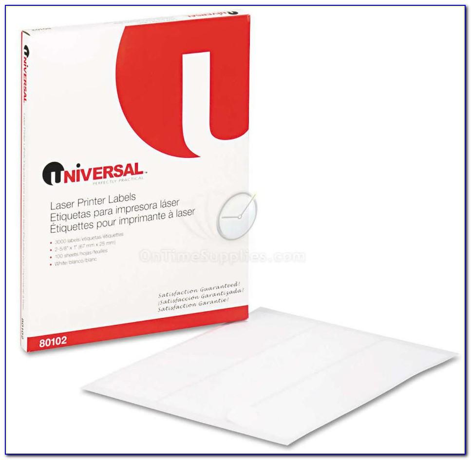 Universal Laser Printer Labels Template 80108