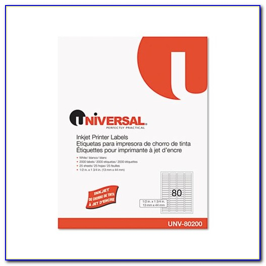 Universal Laser Printer Labels Unv 80107 Template