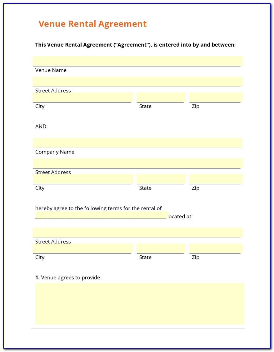 Venue Rental Agreement Template