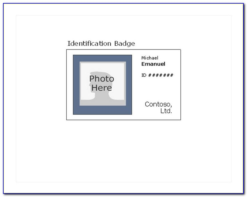 Vertical Id Card Template Free Download Word