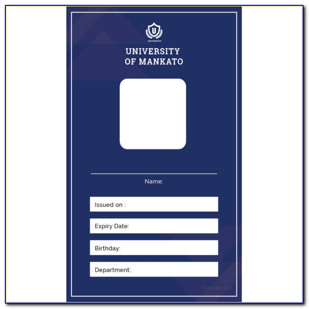 Vertical Id Card Template Free