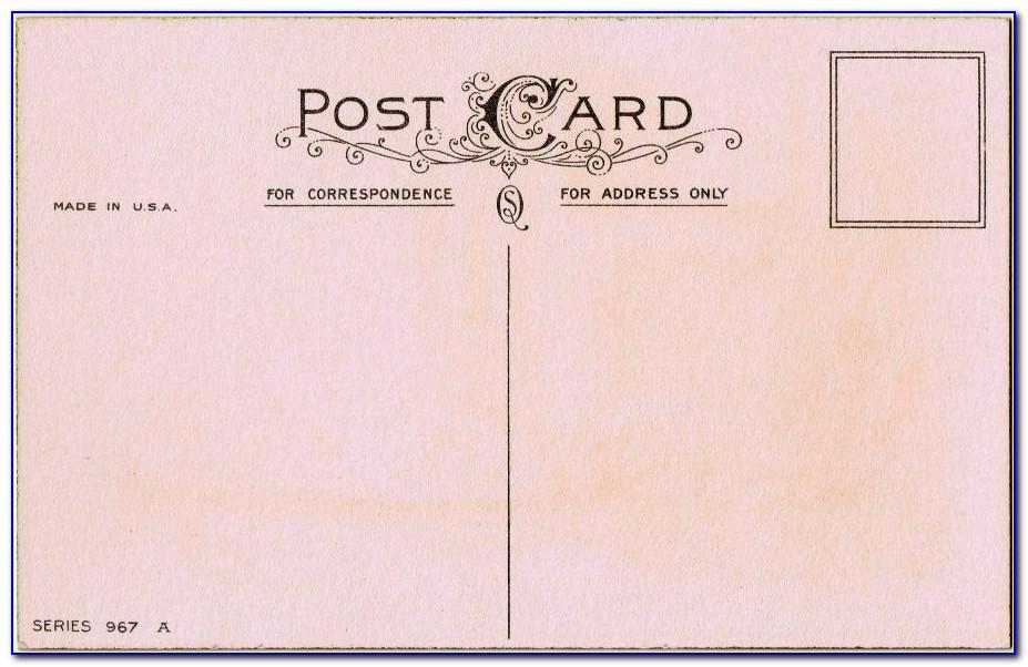 Vintage Postcard Layout