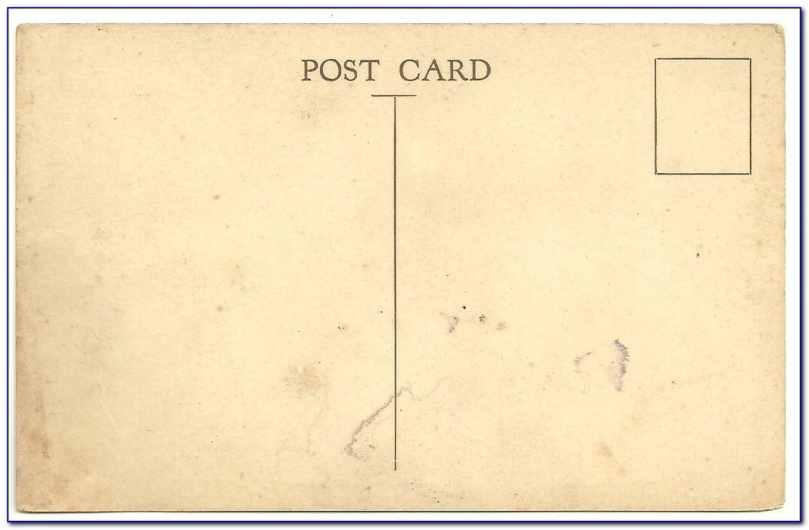 Vintage Postcard Template Free