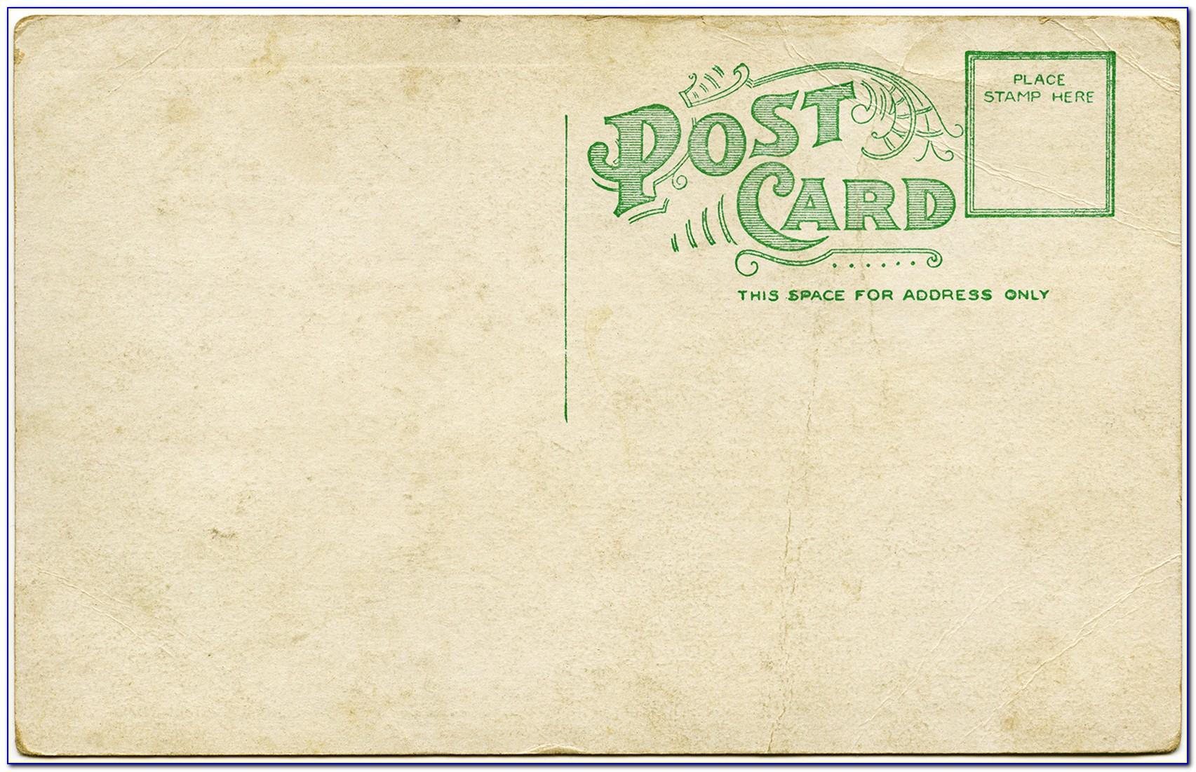 Vintage Postcard Template Illustrator
