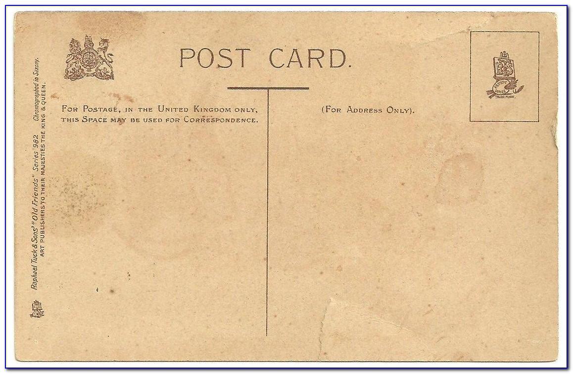 Vintage Postcard Template Photoshop Free