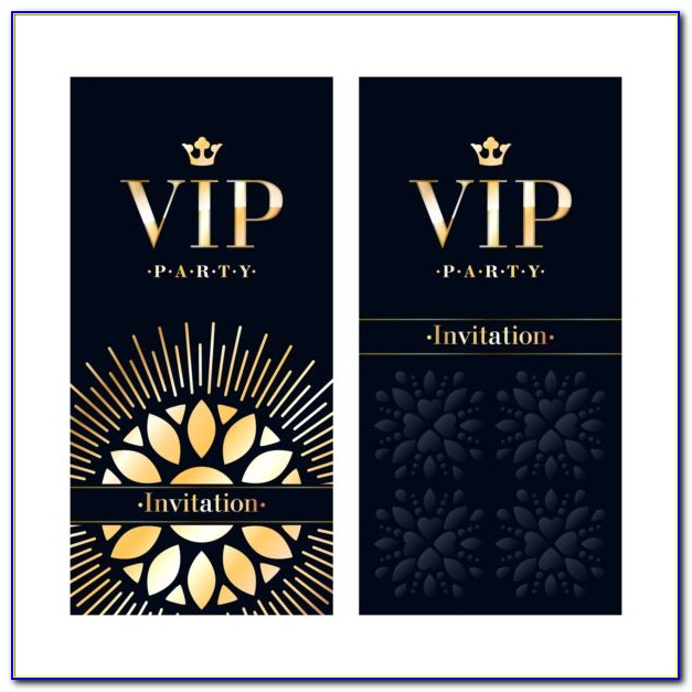 Vip Invitation Designs