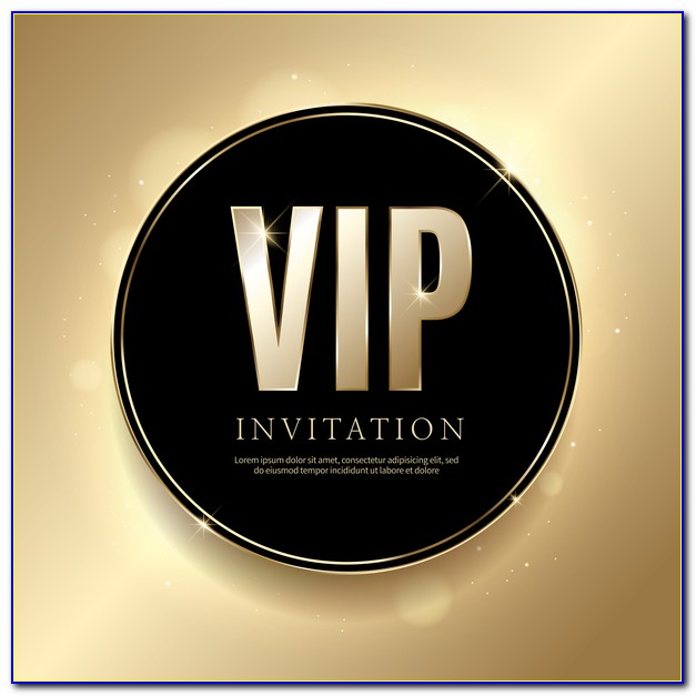 Vip Invitation Letter Template