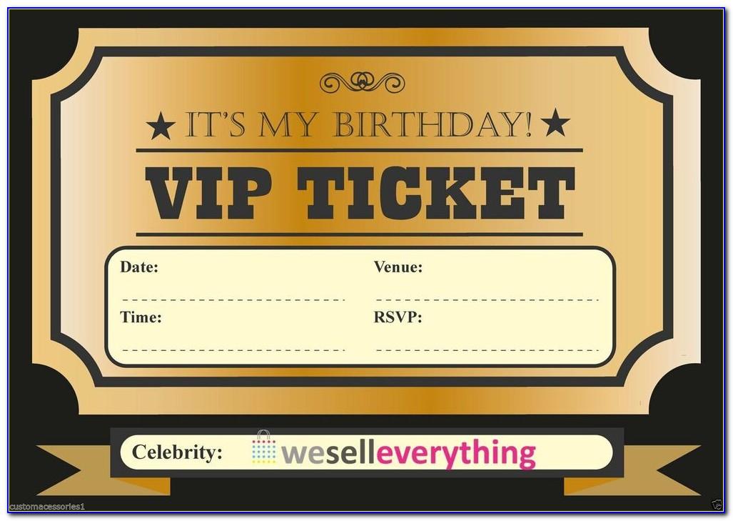 Vip Invitation Samples