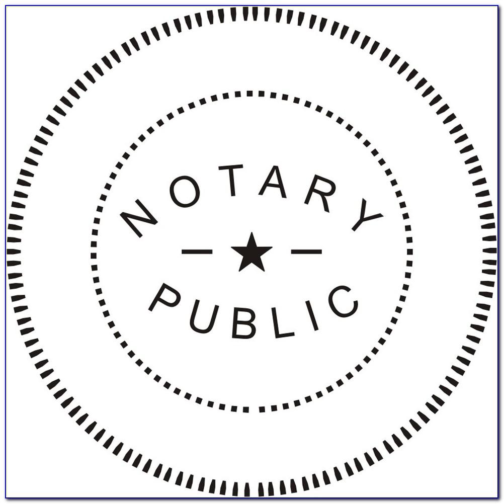 Virginia Notary Seal Template