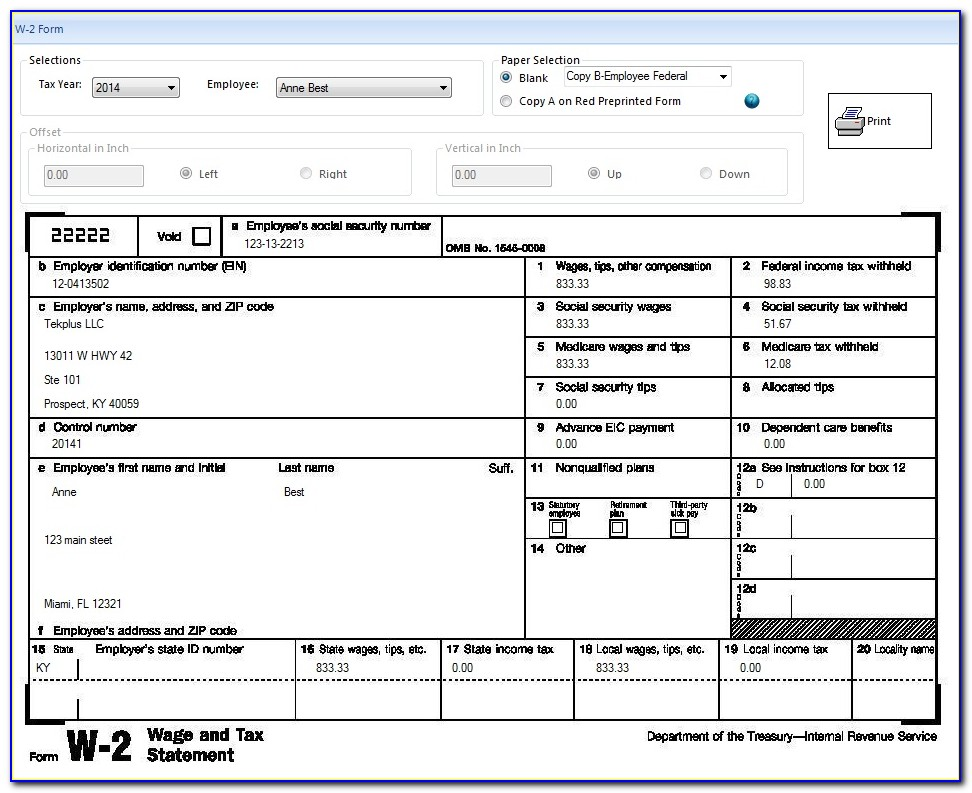 W2 Request Form Template