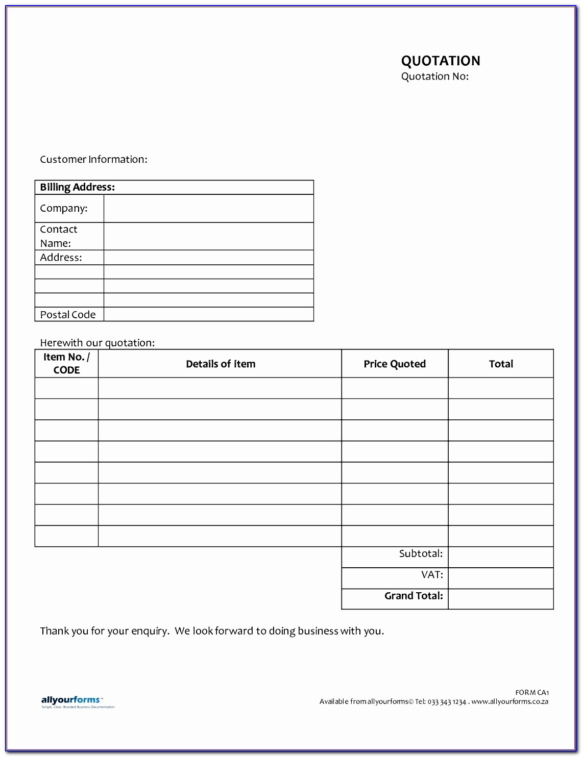 Payroll Slip Template Excel Wseer Elegant Quotation Allyourforms