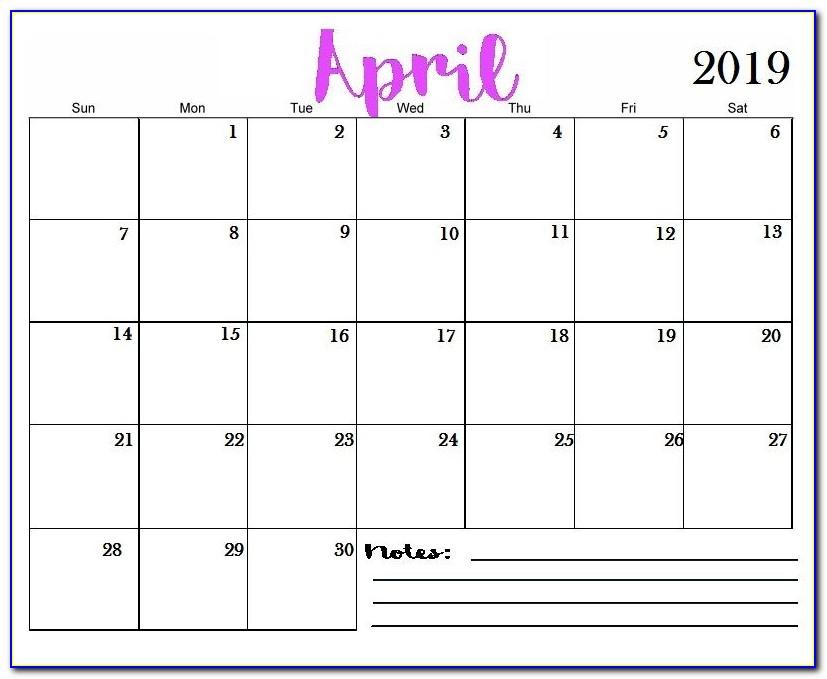 Wall Calendar Template Ai