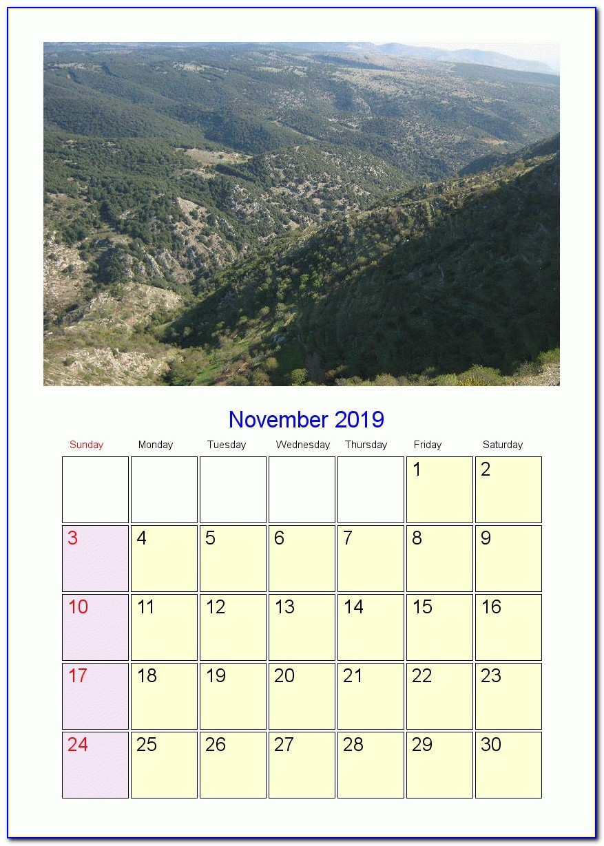 Wall Calendar Template Design