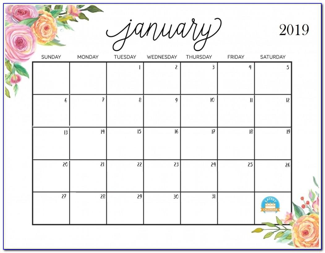 January 2019 Wall Calendar Printable January 2019 Calendar Latest Calendar