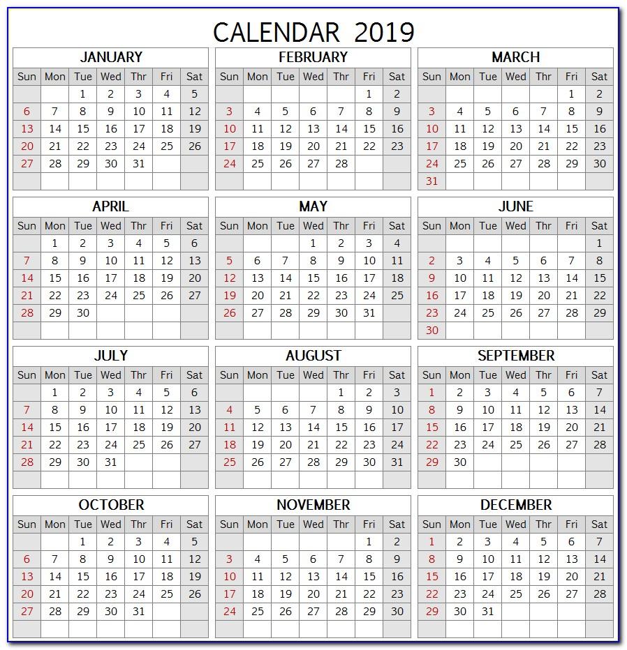 Wall Calendar Template Photoshop