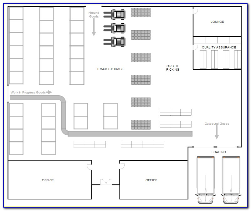 Warehouse Layout Design Template