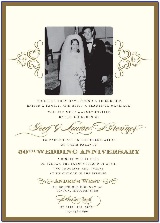 Wedding Anniversary Invitations Templates