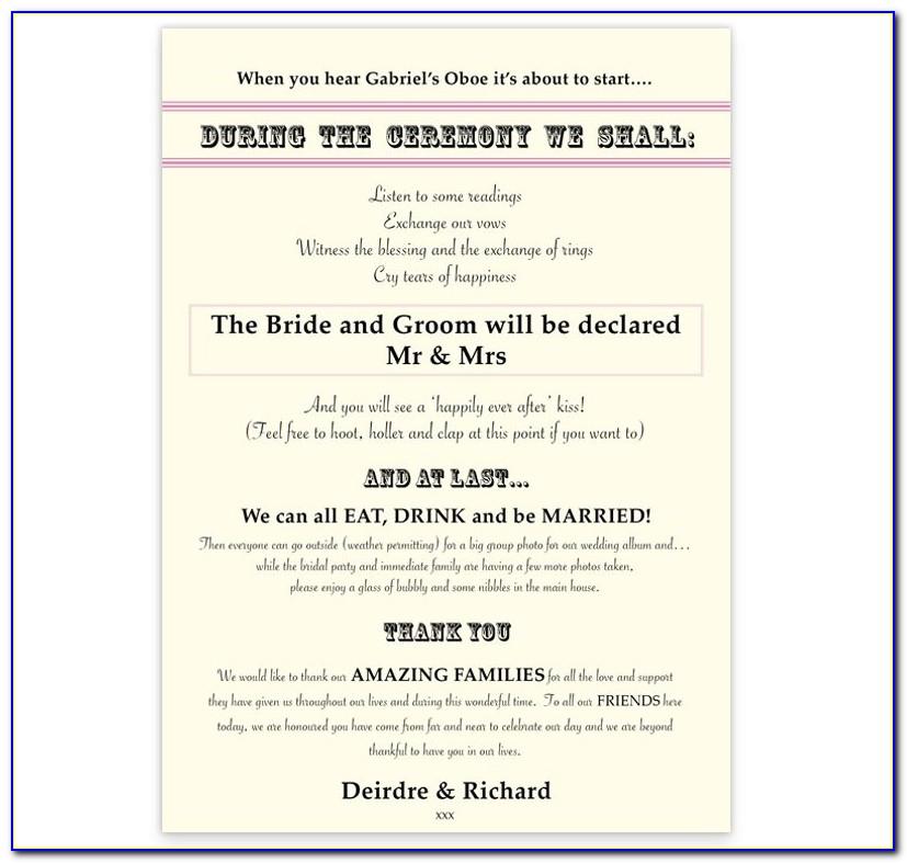 Wedding Ceremony Scroll Template