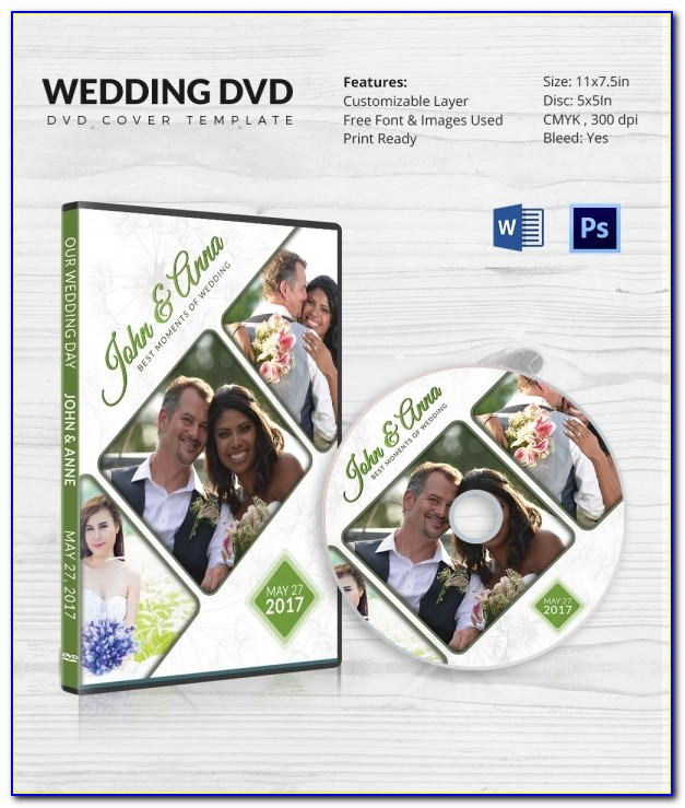 Wedding Dvd Cover Template Png
