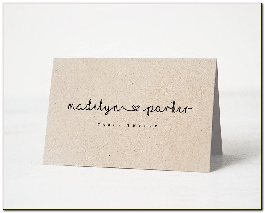 Wedding Escort Card Template