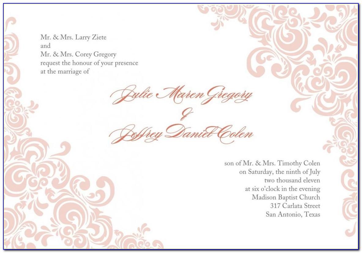 Wedding Invitation Card Template Free Psd