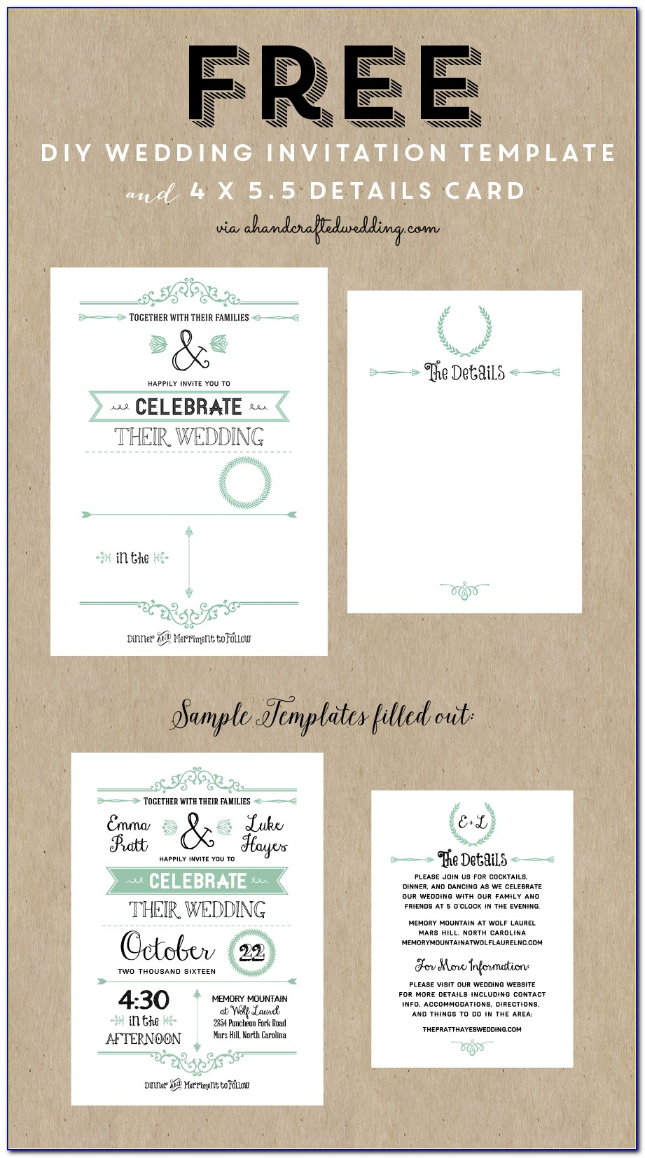 Wedding Invite Templates Free