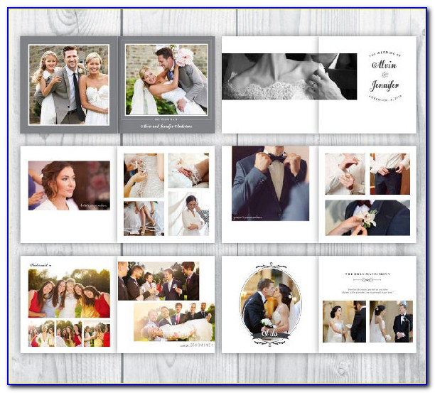 Wedding Photo Album Template Psd