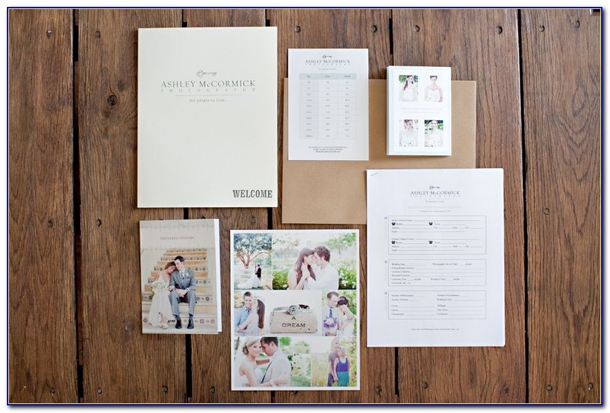 Wedding Photography Welcome Packet Template