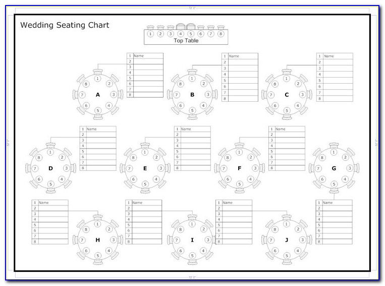 Wedding Table Plan Template Excel