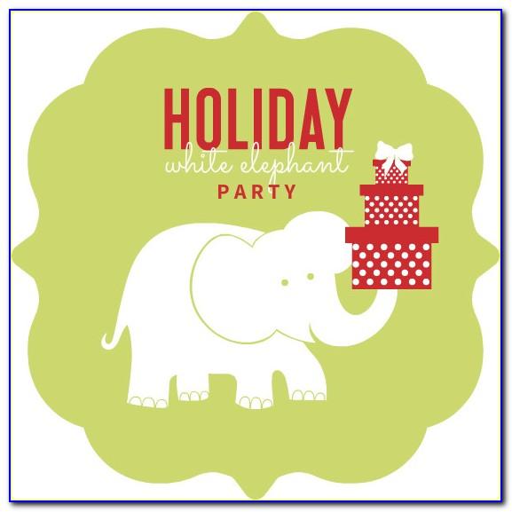 White Elephant Invitation Template Free