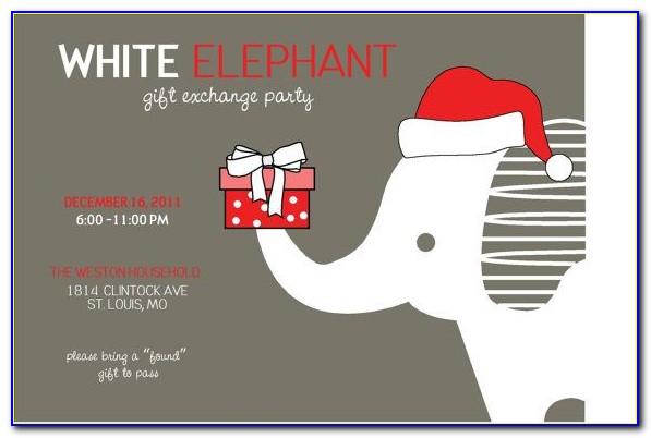 White Elephant Invite Template Free