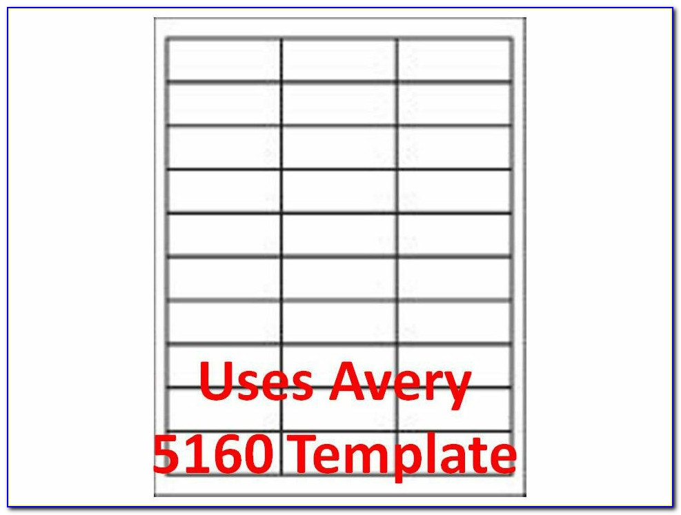White Mailing Labels Template 5163
