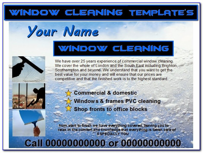 Window Cleaner Flyer Template