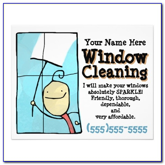 Window Washing Flyer Template