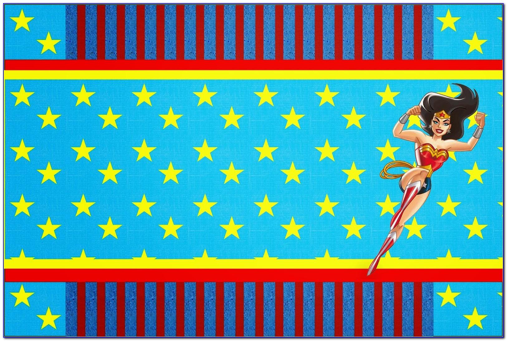 Wonder Woman Birthday Invitation Template Free