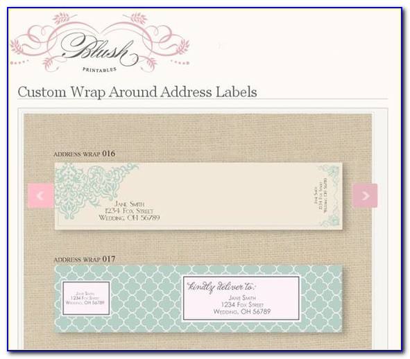 Wrap Address Label Template